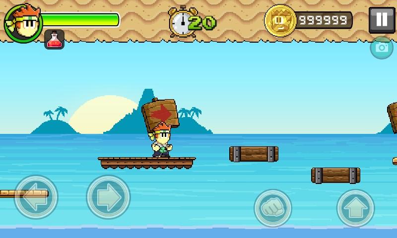 Hình ảnh trong game hack Dan the Man full tiền cho android