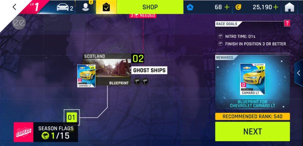 Chế độ chơi trong game đua xe hack Asphalt 9