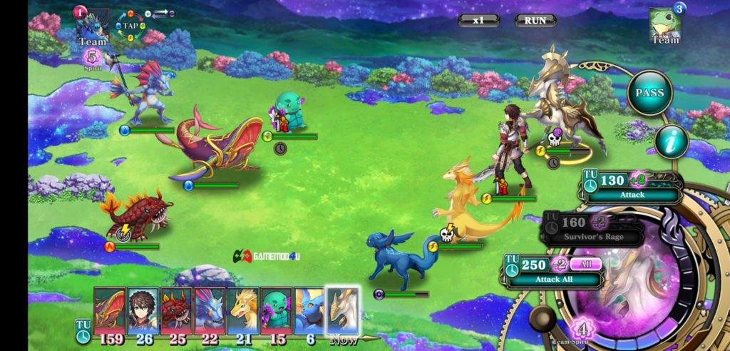 Hình ảnh chiến đấu trong tựa game Evertale mod full