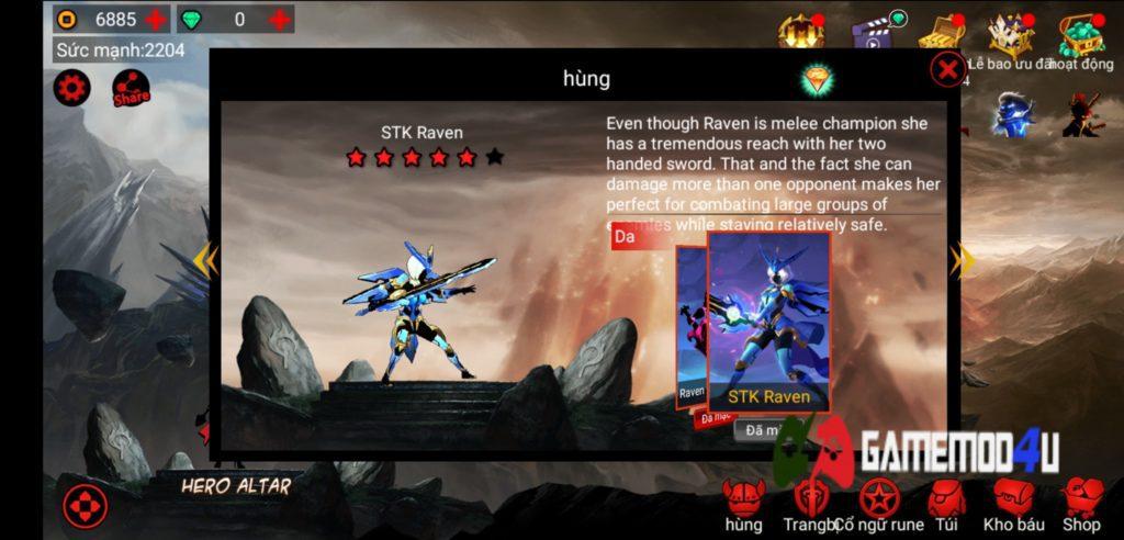 League of Stickman Hack v6.0.2 Full tiền (Mod free shop)