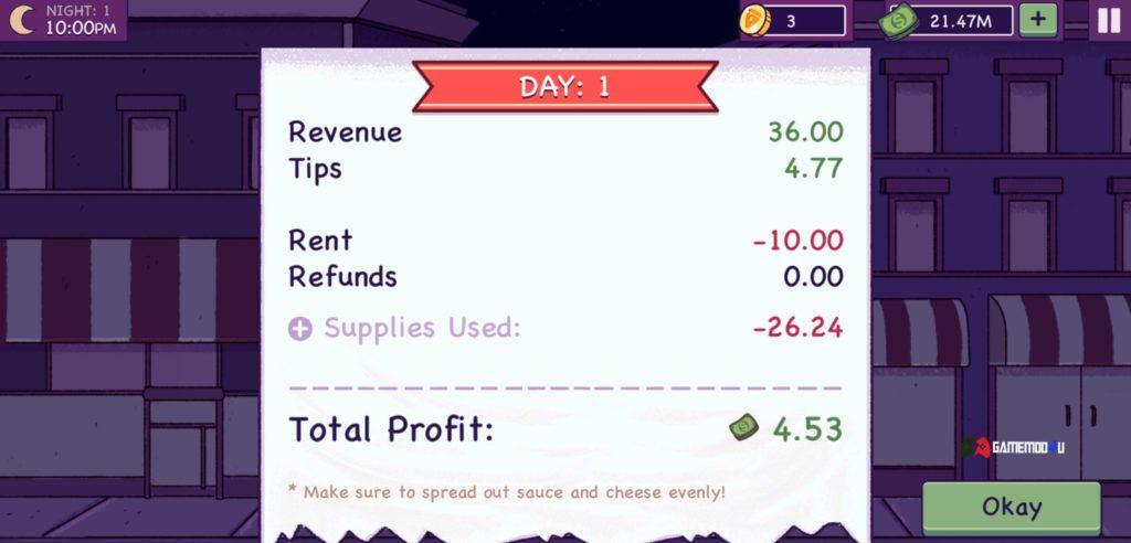 Good Pizza Great Pizza Hack v3.8.8 Full tiền (Mod Money)