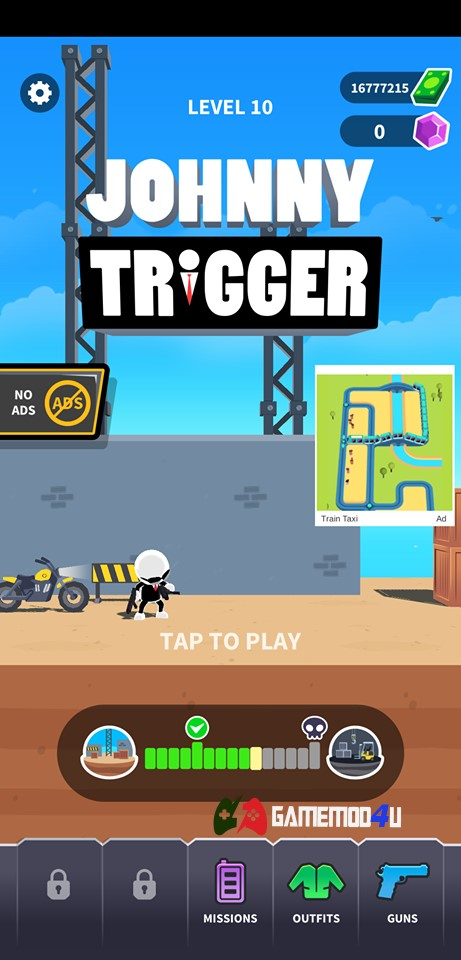 Đã test tựa game Johnny Trigger hack full tiền cho Android