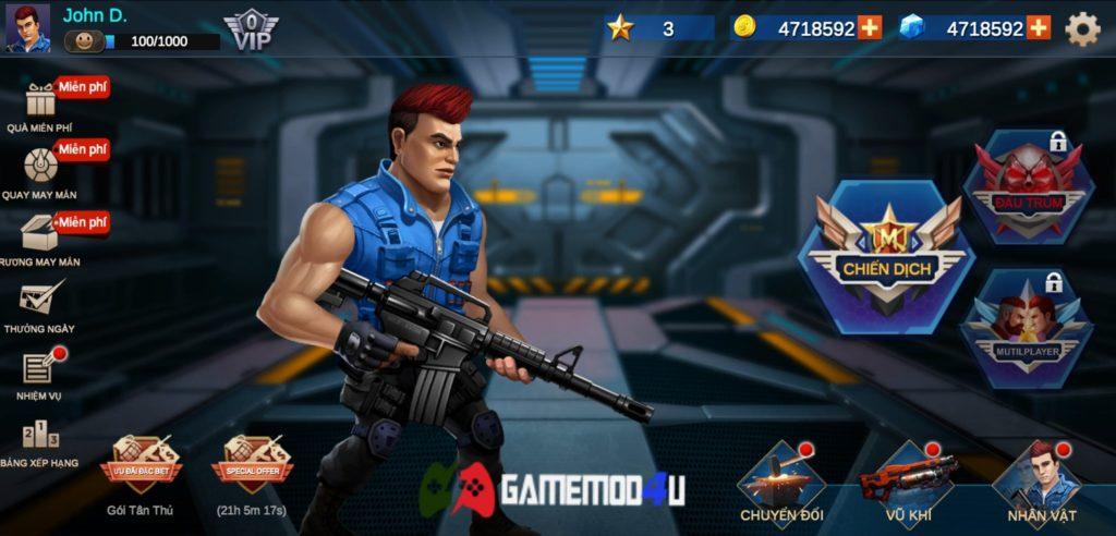 Đã test tựa game Metal Squad hack full tiền và đạn trên Android