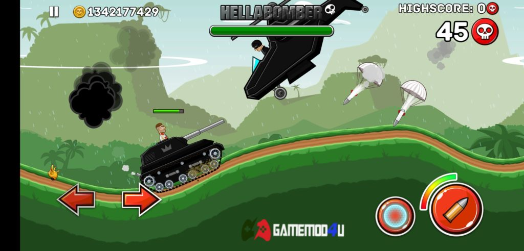Hình ảnh trong game Hills of Steel hack full tiền