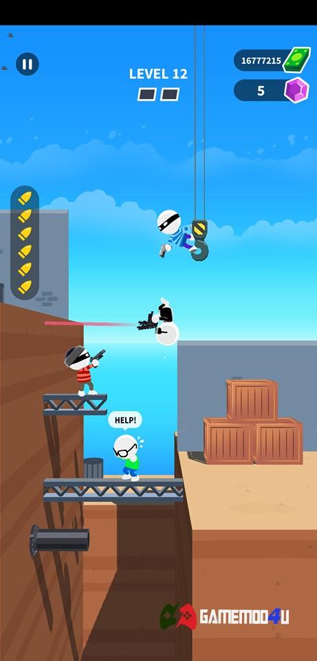 Hình ảnh trong game Johnny Trigger hack full tiền