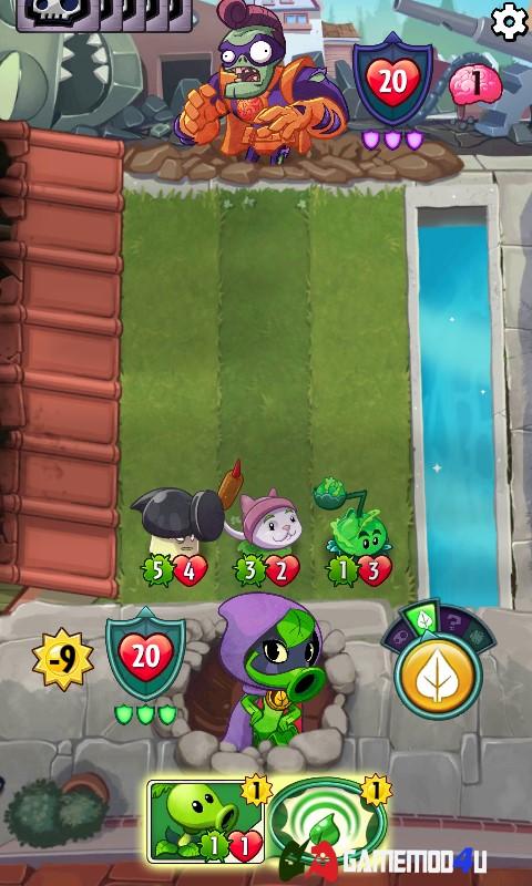 Hình ảnh trong game thẻ bài Plants vs Zombies Heroes hack full