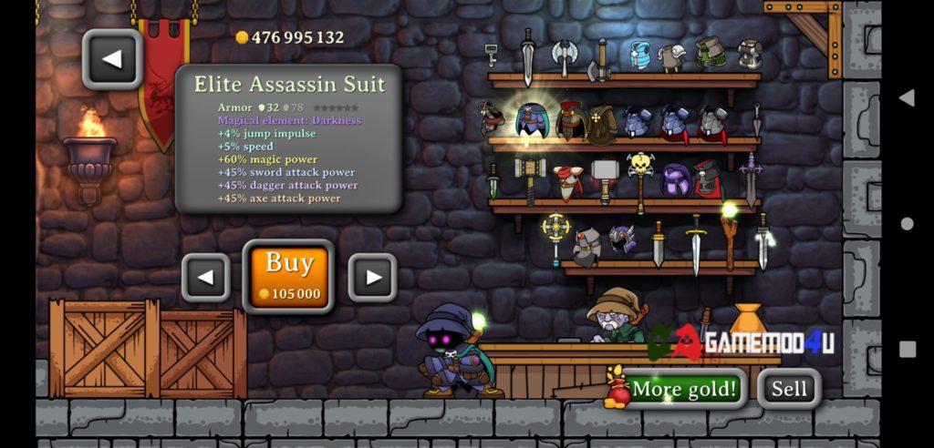 Hình ảnh trong shop game Magic Rampage hack full tiền