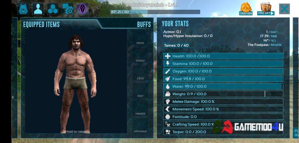 Nhân vật trong game ARK Survival Evolved mod full tiền