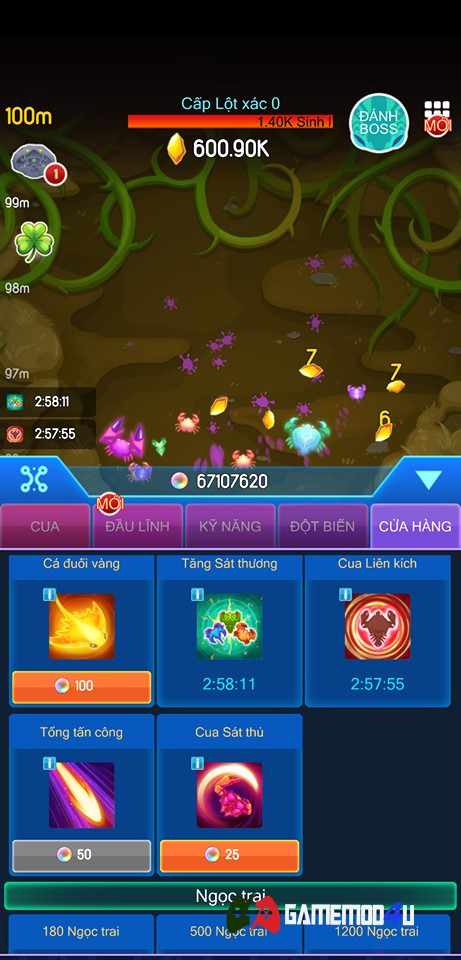 Crab War Hack v3.32.0 Full tiền (Mod rất nhiều money)