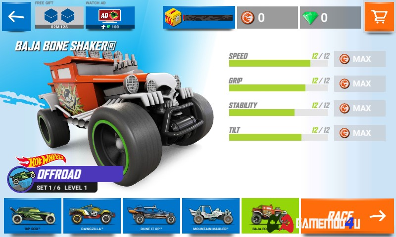 Đã test con game hack Hot Wheels Race Off full tiền cho android