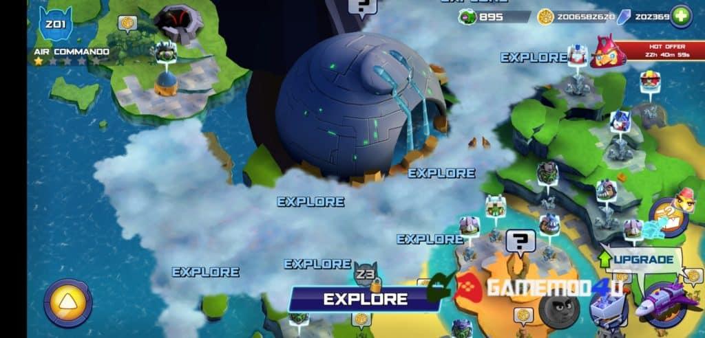 Đã test tựa game Angry Birds Transformers mod full tiền