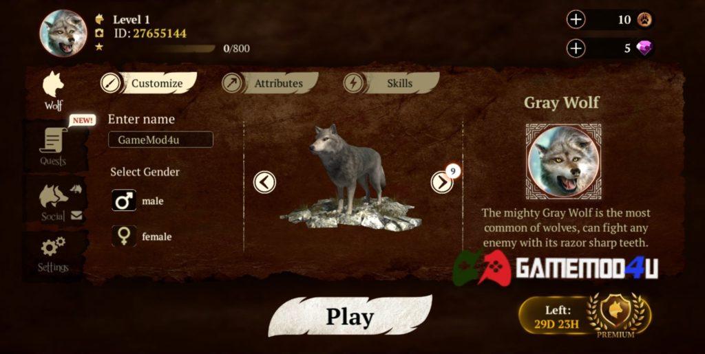 Đã test trò chơi The Wolf hack full tiền