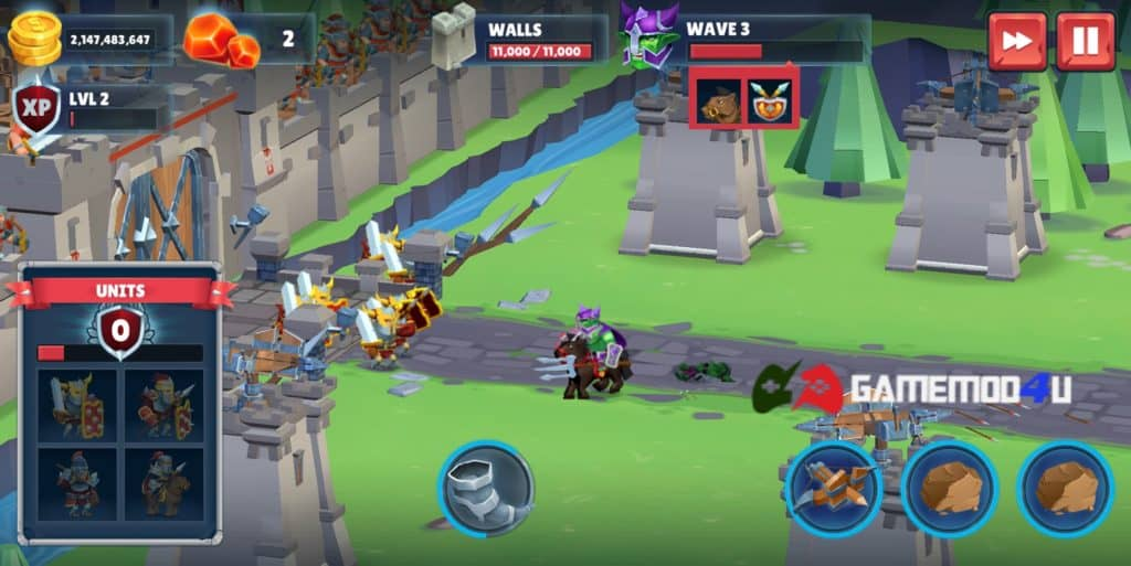 Hình ảnh trong game Game of Warriors hack full tiền