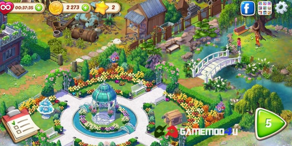 Hình ảnh trong game Lily's Garden hack full tiền và sao