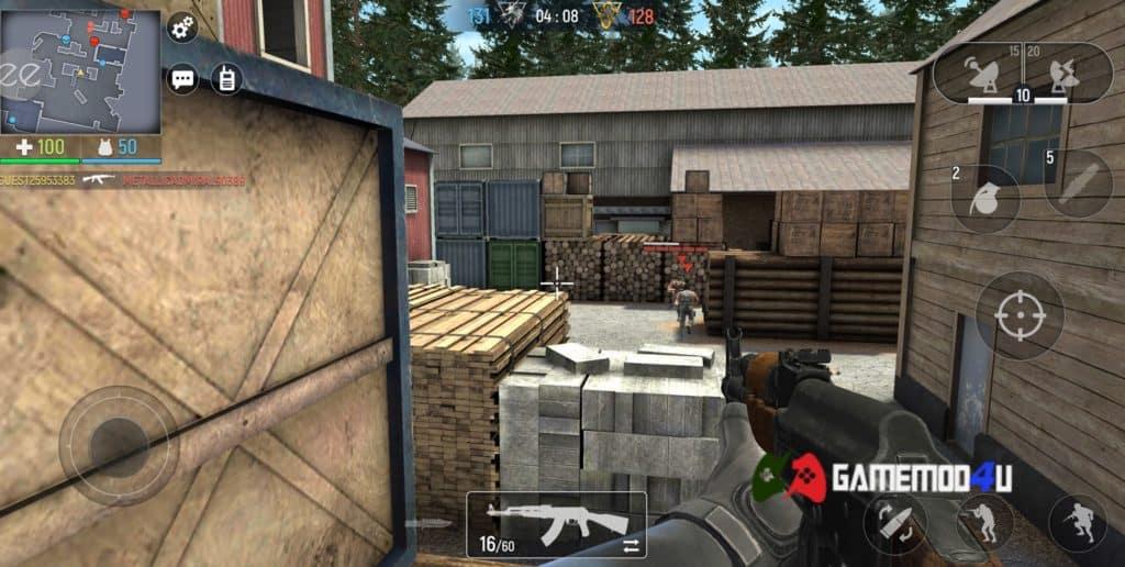 Hình ảnh trong game Modern Ops hack map cho điện thoại Android