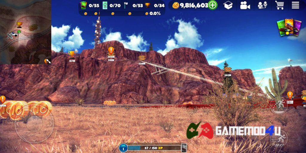 Hình ảnh trong game Off The Road hack full tiền trên điện thoại Android