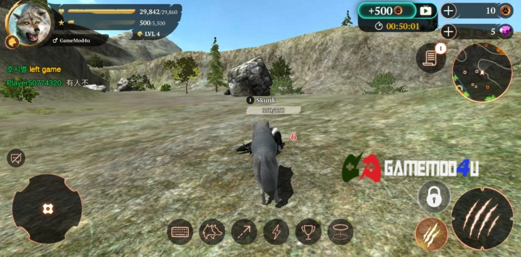 The Wolf Hack v2.2 Full tiền (Mod Free purchases)