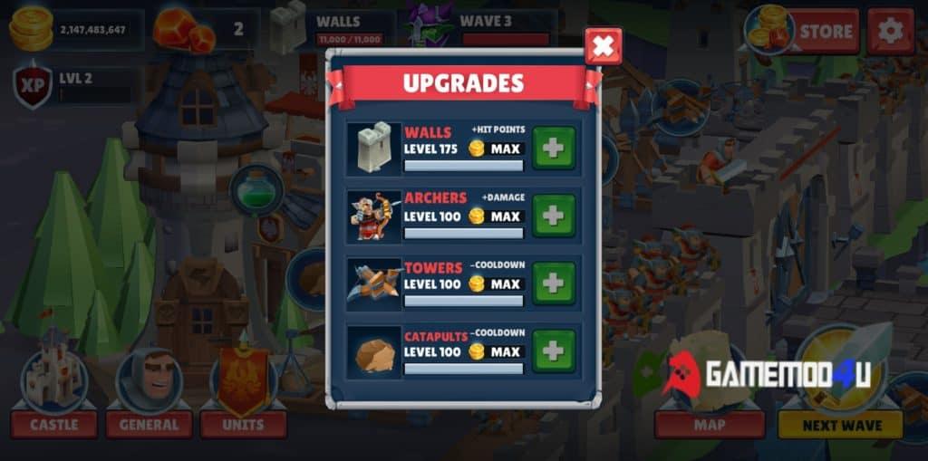 Game of Warriors Hack v1.4.5 Full tiền (Mod money)