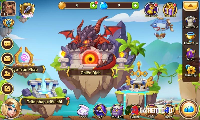 Đã test tựa game Idle Heroes hack full vip cho điện thoại Android