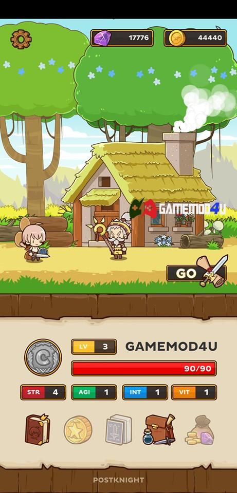 Đã test trò chơi Postknight mod full tiền cho Android