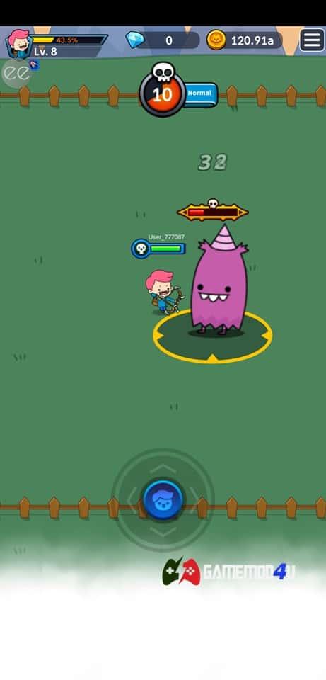Đồ họa trong trong game nhập vai phiêu lưu Archer's Adventure hack