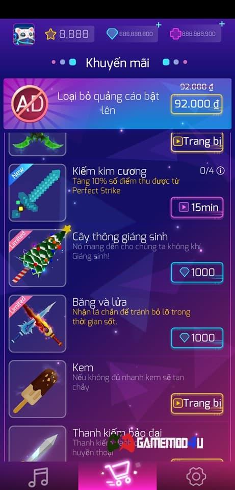 Các loại vũ khí có trong game Sonic Cat mod full tiền