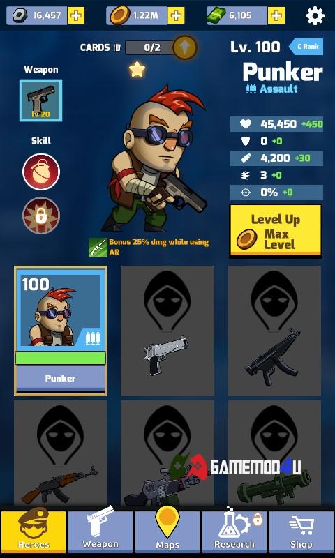 Zombie Idle Defense Hack v1.6.40 Full tiền (Mod money)