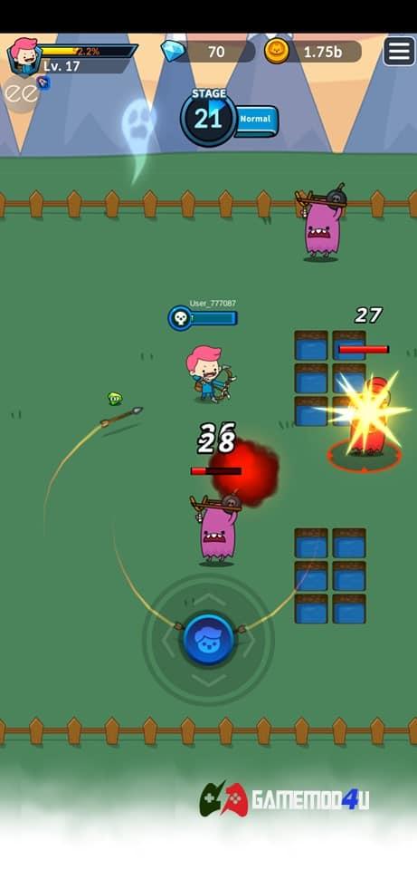 Hình ảnh trong game Archer's Adventure hack
