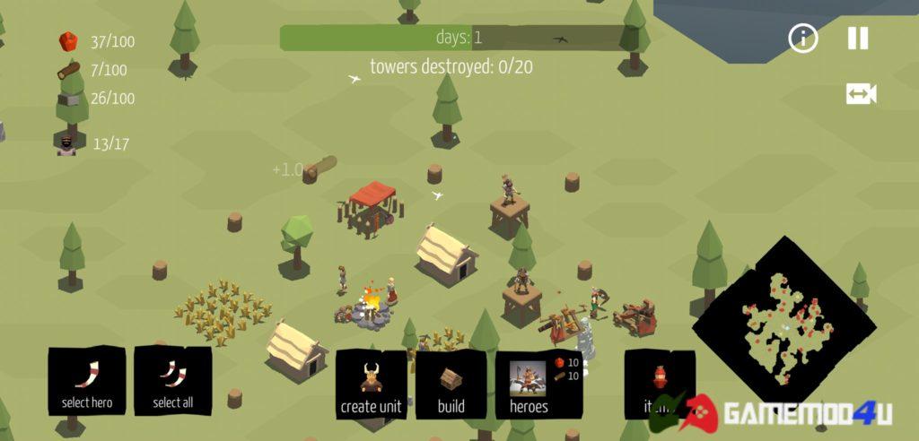Hình ảnh trong game Viking Village mod full hero cho Android