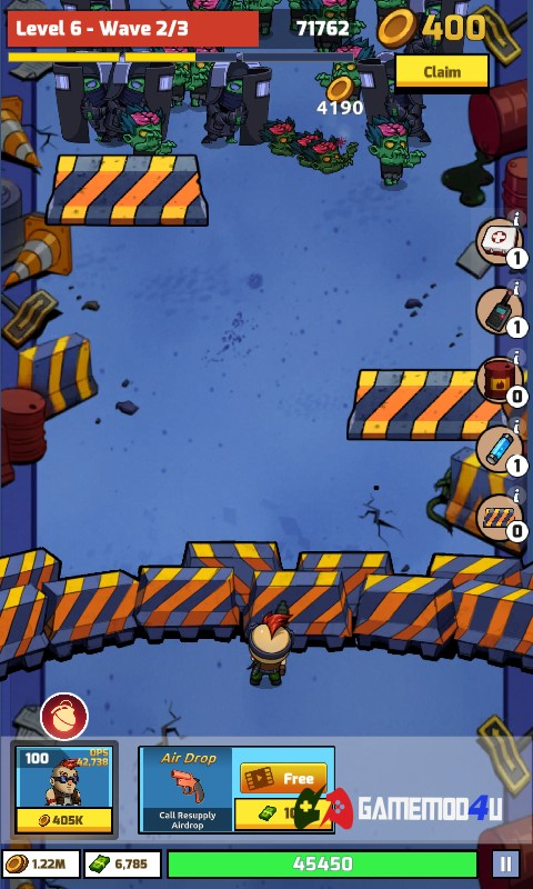 Hình ảnh trong game Zombie Idle Defense hack full tiền