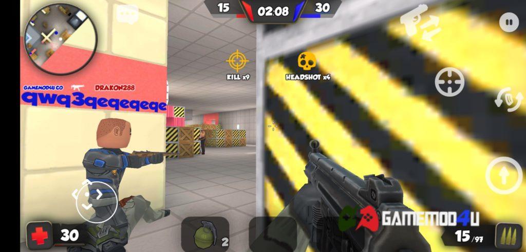 Hình ảnh trong game bắn súng FPS Shooter KUBOOM 3D mod full skins