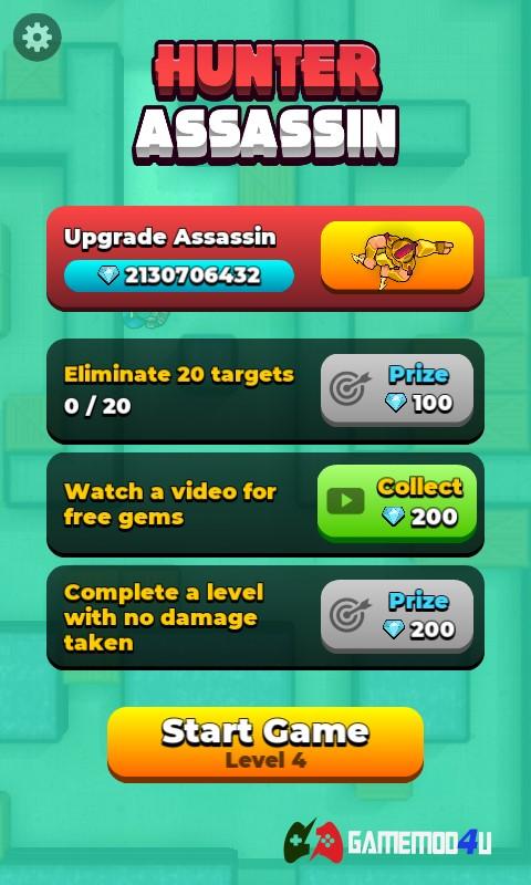 Đã test game Hunter Assassin mod full tiền cho điên thoại Android