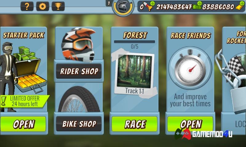 Đã test game Mad Skills BMX 2 mod full tiền cho Android