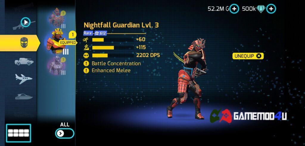 Có nhiều skin khác nhau trong game Gangstar Vegas mod full tiền