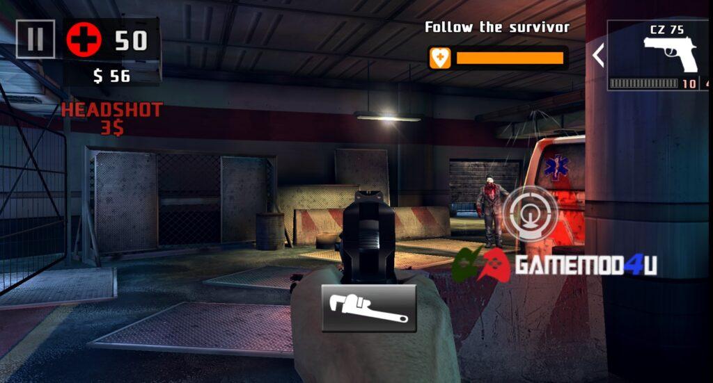 Chơi Dead Trigger 2 mod full đạn bắn mãi không hết