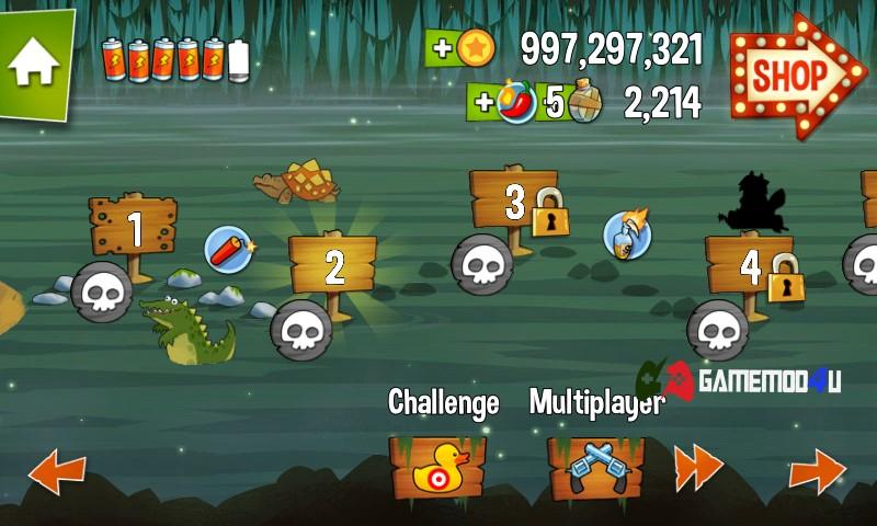 Game Swamp Attack mod full tiền có nhiều chế độ chơi