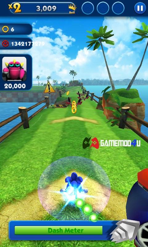 Hình ảnh trong game Sonic Dash mod full tiền