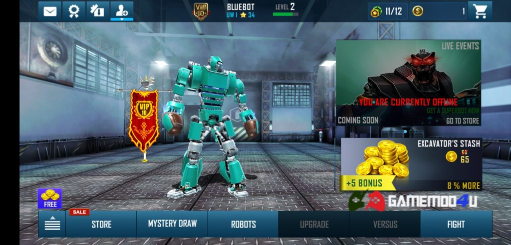 Real Steel World Robot Boxing Mod Vip 10 cho Android