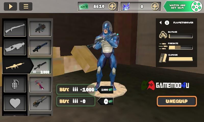 Tính năng mod tiền không bị trừ khi mua hàng trong game Rope Hero Vice Town mod full tiền