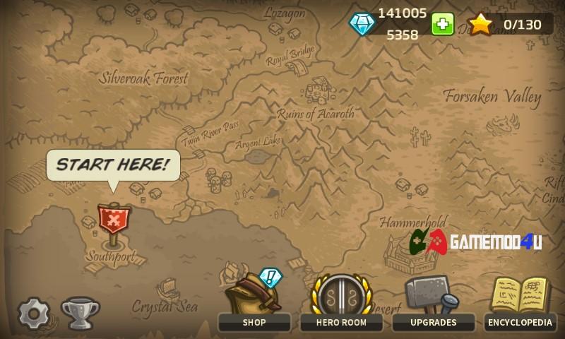 Đã test game Kingdom Rush mod full tiền cho điện thoại Android