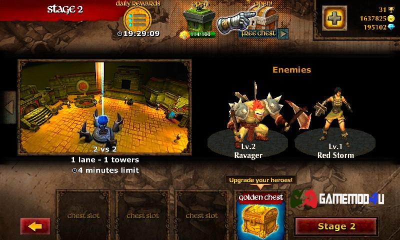 Đã test game Legendary Heroes MOBA mod full tiền