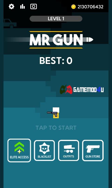 Đã test game Mr Gun mod full tiền