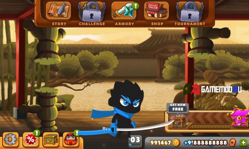 Đã test game Ninja Dash mod full tiền cho Android