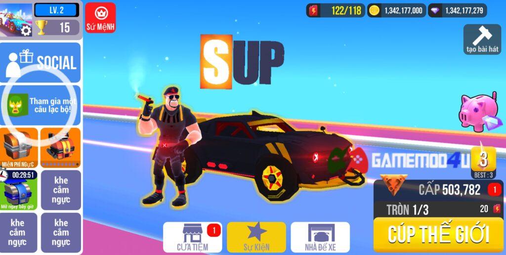 Đã test game SUP Multiplayer Racing mod full tiền