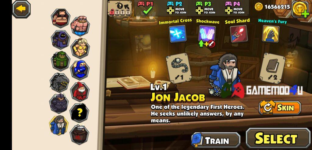 Có nhiều nhân vật trong game Blackmoor 2 mod full tiền