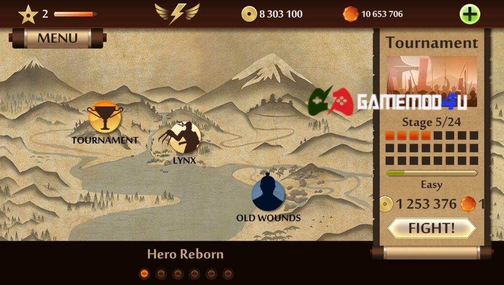 Có nhiều tính năng thú vị khác ở bản Shadow Fight 2 Special Edition mod full tiền này