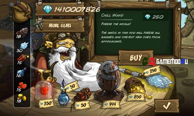 Cửa hàng trong game Kingdom Rush mod full tiền