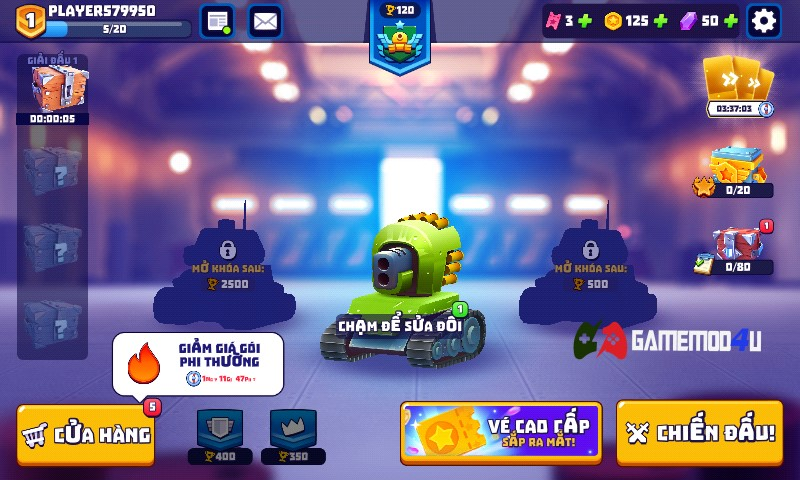 Đã test game Tanks A Lot mod full đạn