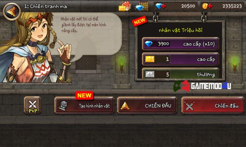 Đã test trò chơi Kingdom Wars mod full tiền