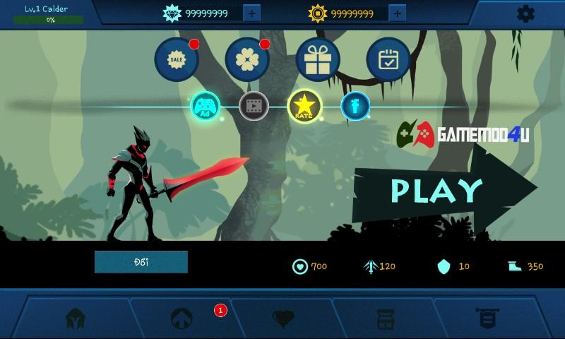 Đã test trò chơi Shadow Fighter mod full tiền